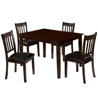 West Creek I 5-Piece Espresso Dining Set