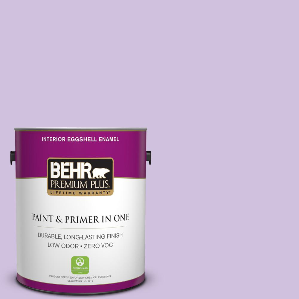 BEHR Premium Plus 1-gal. #650A-3 Fresh Heather Zero VOC Eggshell Enamel Interior Paint