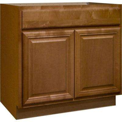 Cambria Assembled 36x34.5x24 in. Sink Base Kitchen Cabinet in Harvest