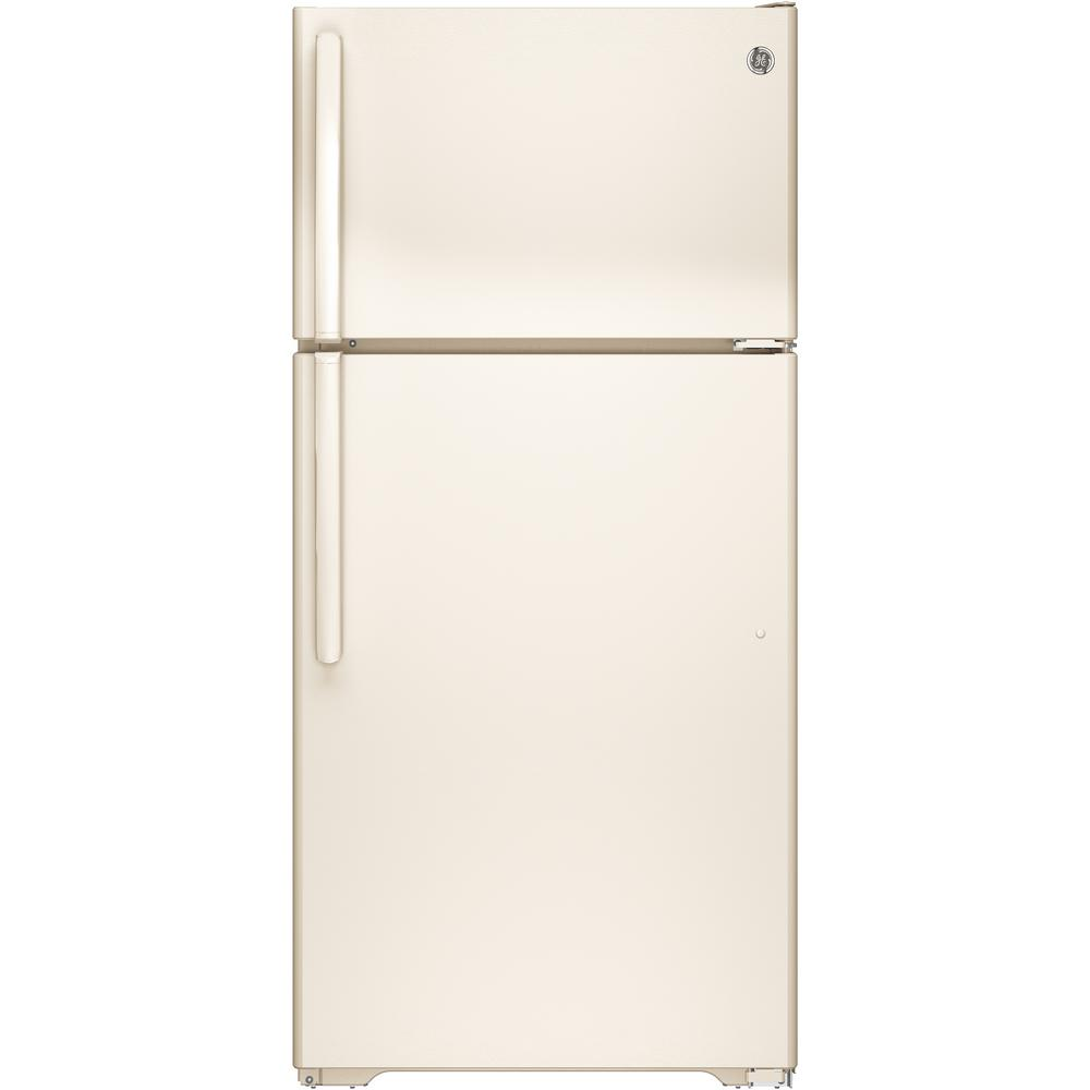 Ge 14 6 Cu Ft Top Freezer Refrigerator In Bisque