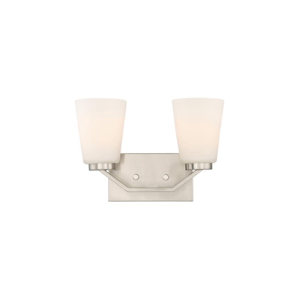 Filament Design 2-Light Brushed Nickel Bath Light