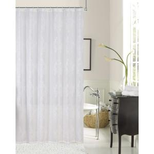 Click here to buy  Emily 72 inch White Embroidered Shower Curtain.