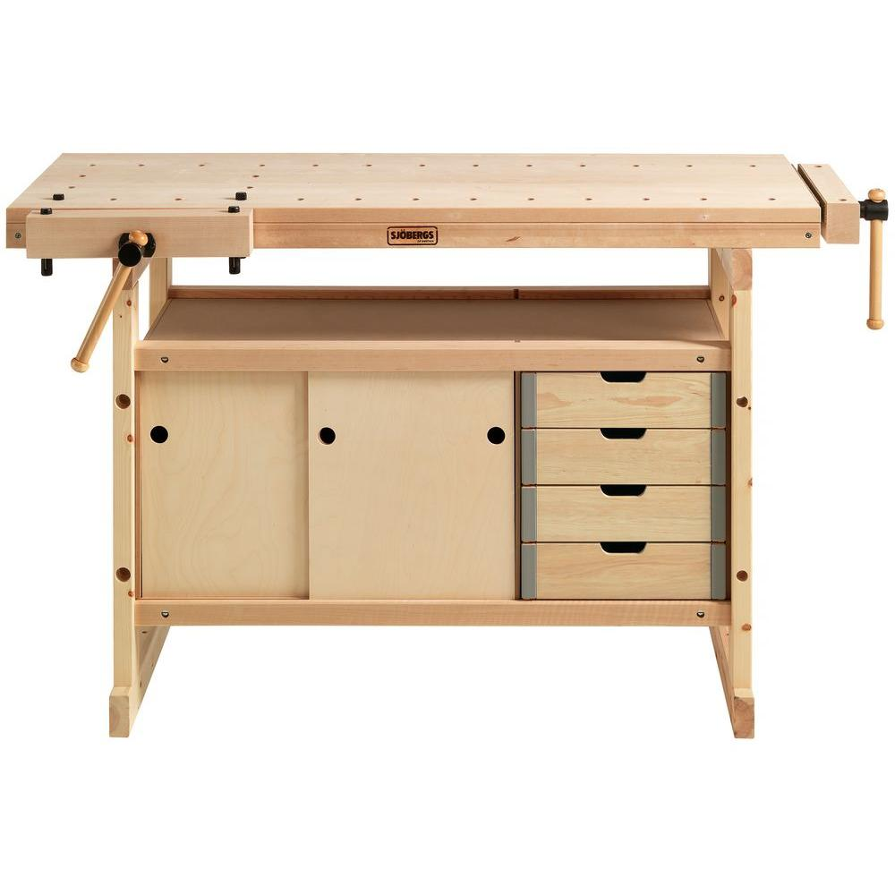 Sjobergs Hobby Plus 1340 4 ft. x 9 in. Workbench and Cabi...