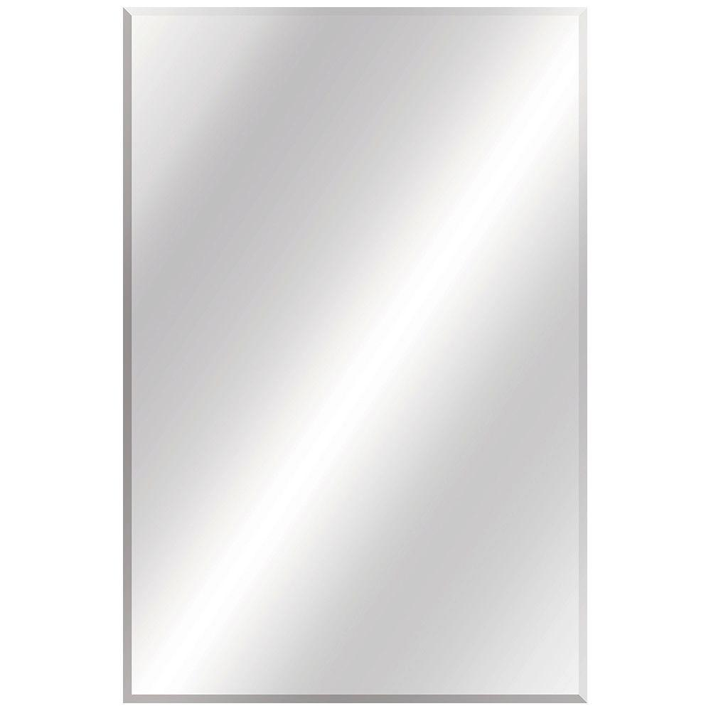 Glacier Bay 24 In W X 36 L Beveled Edge Bath Mirror