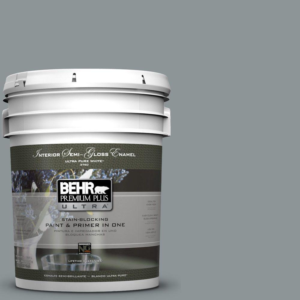 BEHR Premium Plus Ultra 5-gal. #N450-4 Moonquake Semi-Gloss Enamel Interior Paint