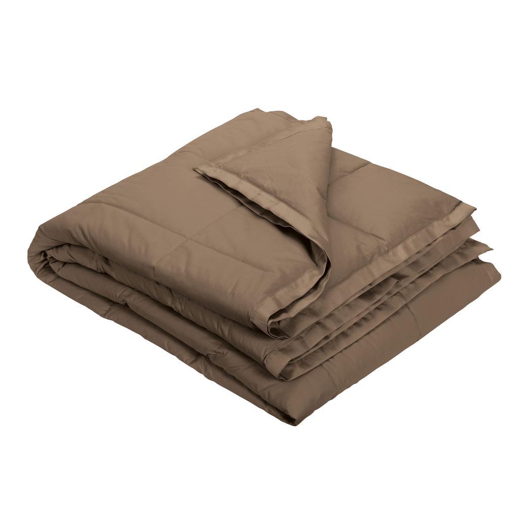 LaCrosse LoftAIRE Down Alternative Mocha Cotton Throw Blanket