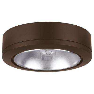 Ambiance 1-Light Painted Antique Bronze Low Voltage Disk