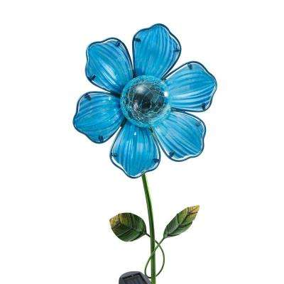 Blue Flower LED Solar Garden Stake