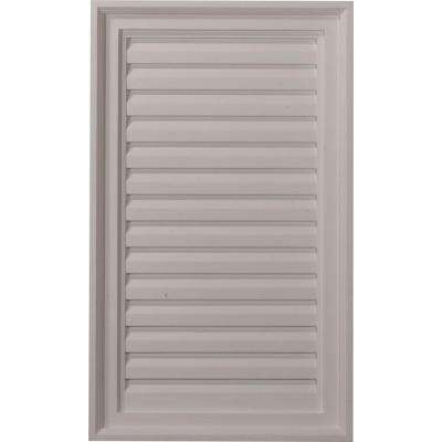 2 in. x 18 in. x 30 in. Decorative Vertical Gable Louver Vent