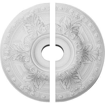 23-1/2 in. O.D. x 3-1/2 in. I.D. x 2-3/4 in. P Granada Ceiling Medallion (2-Piece)