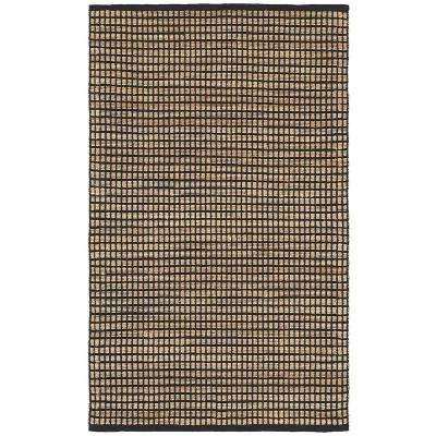Natural Fiber Kiana Anthracite Rectangle 9 ft. x 12 ft. Indoor Area Rug