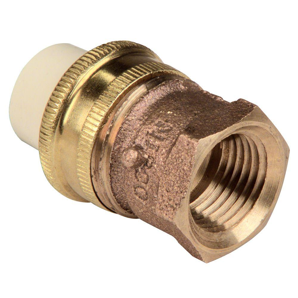 NIBCO 3/4 in. Brass and Chlorinated Polyvinyl Chloride (CPVC) Transition Union with Male Brass Solder Connection