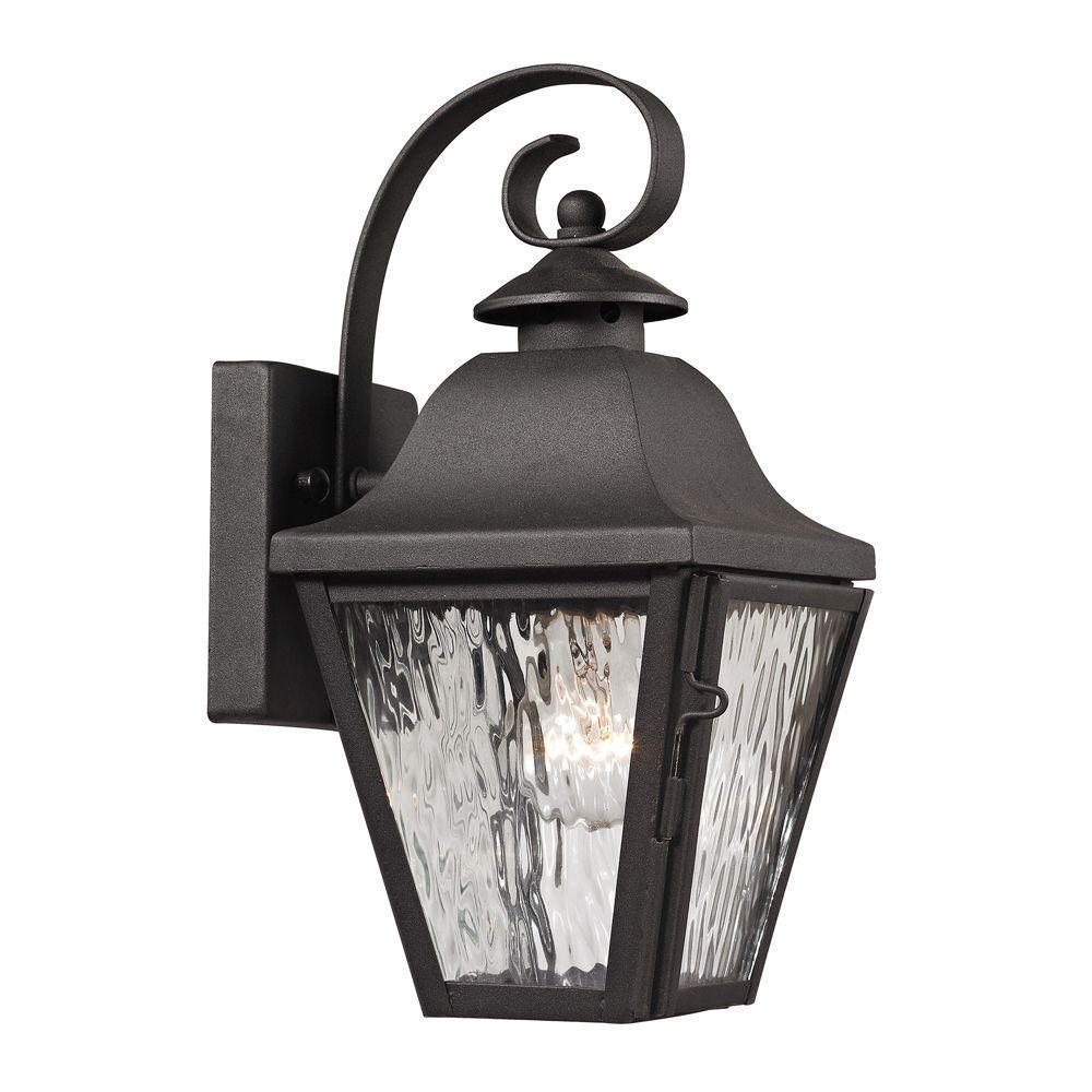 Ipswich Forge Collection 1-Light Charcoal Outdoor Sconce