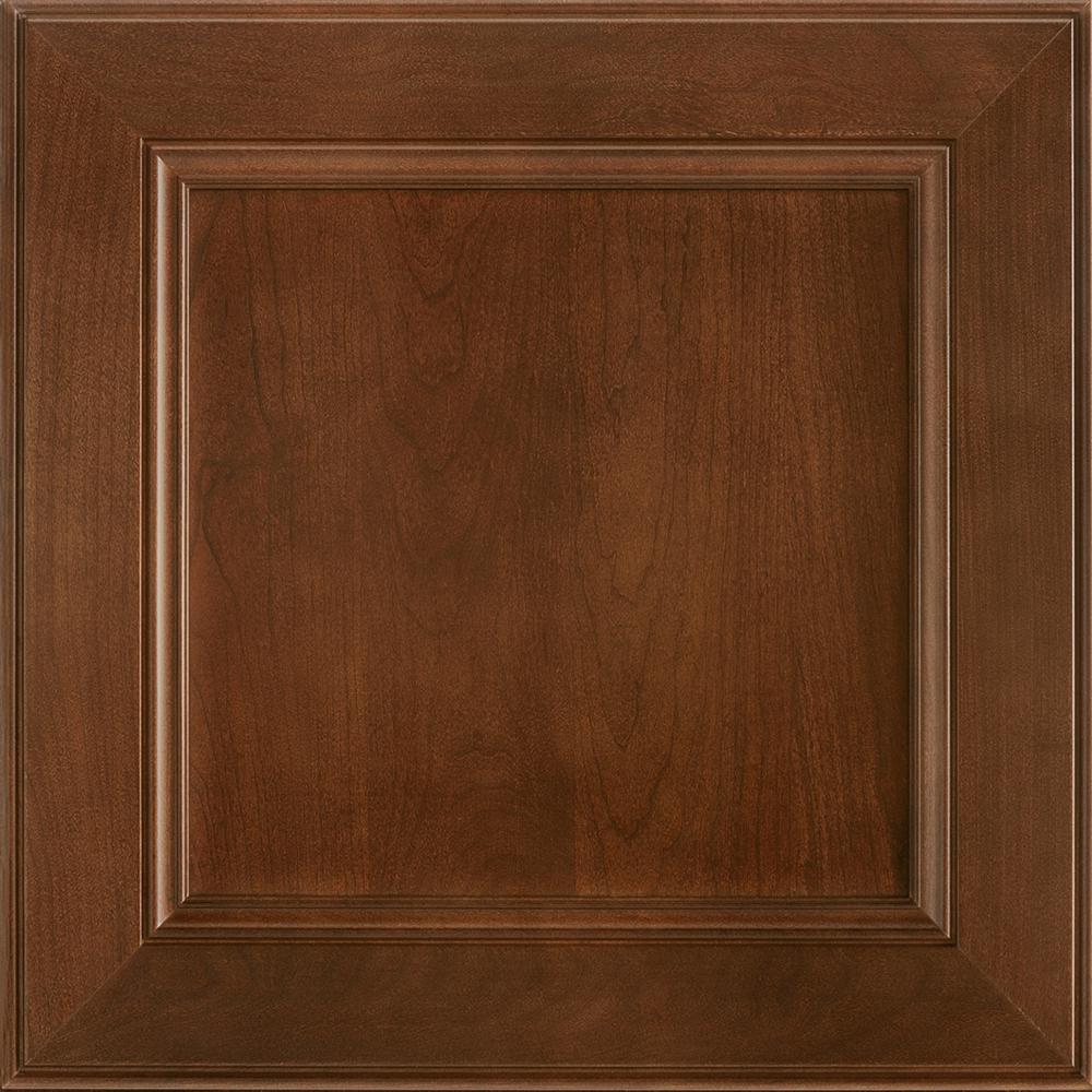American Woodmark 14-9/16 x 14-1/2 in. Cabinet Door Sample in MacArthur  Cherry Spice