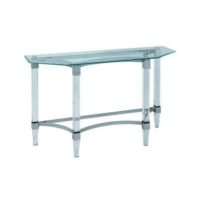 Susan Clear With Chrome Accents Sofa Table