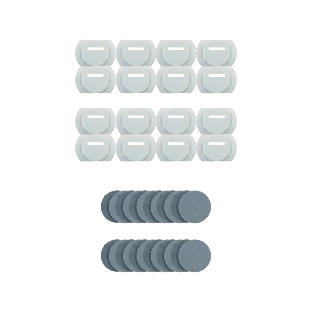 OMUR Start/Stop Clips for OMUR Mount System Clips with Adhesive Pads (Pack of 16)