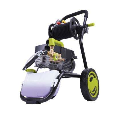 Commercial Series 1800 PSI Max 1.6 GPM Electric Pressure Washer with Wall Mount and Roll Cage and Hose Reel