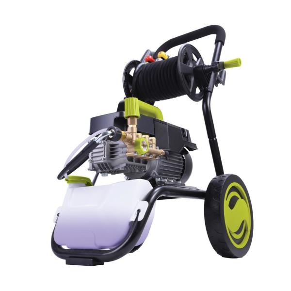 Sun Joe SPX9009-PRO Commercial Series Cold Water Electric Direct Drive Crank Shaft Pressure Washer | 1800 PSI Max | 1.6 GPM Max | 2.41 HP Motor | 120 Volt | Wall Mount | Roll Cage | Hose Reel