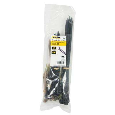 4 in., 8 in., 11 in. Cable Tie Assortment, 50 lb. Tensile, Camo, 200-Pack (Case of 10)