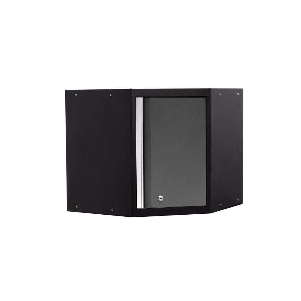 NewAge Products Pro 3.0 Series 24 in. W x 22 in. H x 24 in. D 18-Gauge Welded Steel Corner Wall Cabinet in Gray