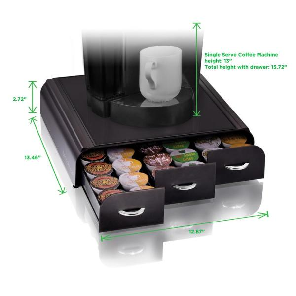 Mind Reader Anchor 36-Capacity Black K-Cup Storage Drawer TRY01-BLK