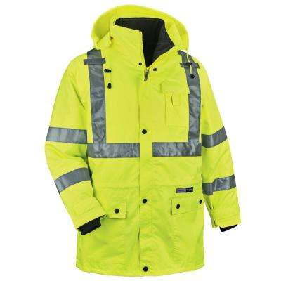GloWear 8385 Men's X-Large Lime High Visibililty 4-in-1 Jacket