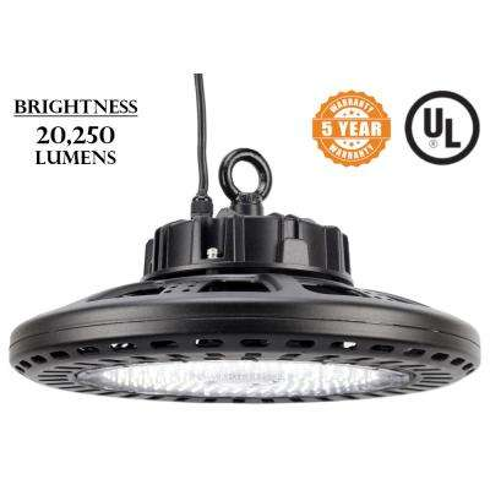 UFO 150-Watt Black Integrated LED High Bay