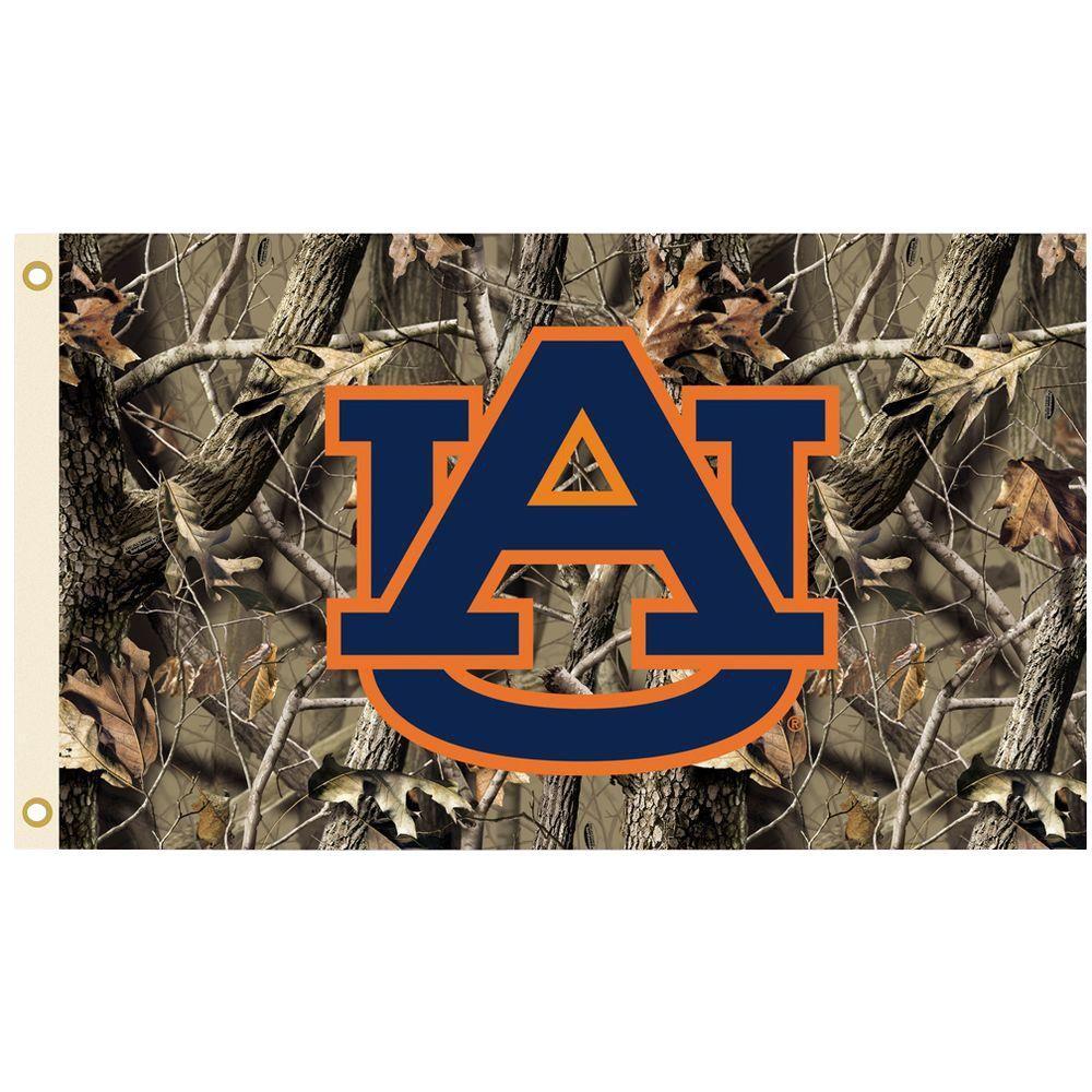 NCAA 3 ft. x 5 ft. Realtree Camo Background Auburn Flag