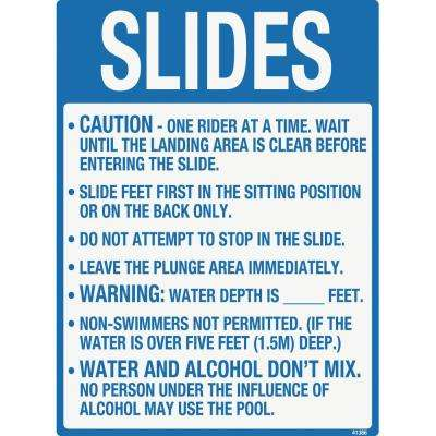 Sign for Residential Swimming Pools, Slides