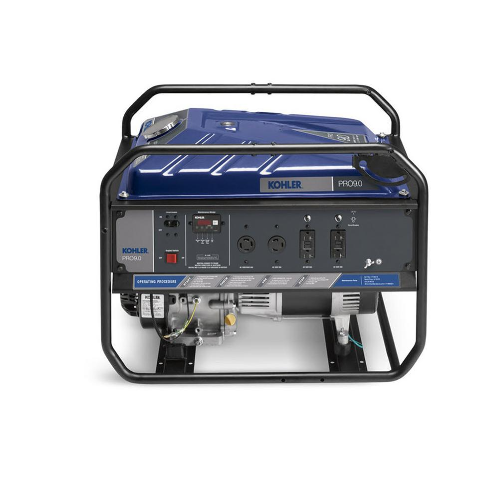 9,000-Watt Gasoline Powered Recoil Start Portable Generator with Command PRO