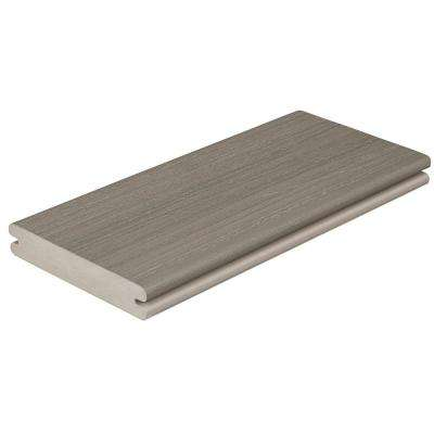 Paramount 1 in. x 5-4/9 in. x 1 ft. Sandstone Grooved Edge Capped Composite Decking Board Sample