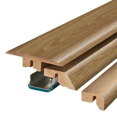Vienna Oak 3/4 in. Thick x 2-1/8 in. Wide x 78-3/4 in. Length Laminate 4-in-1 Molding