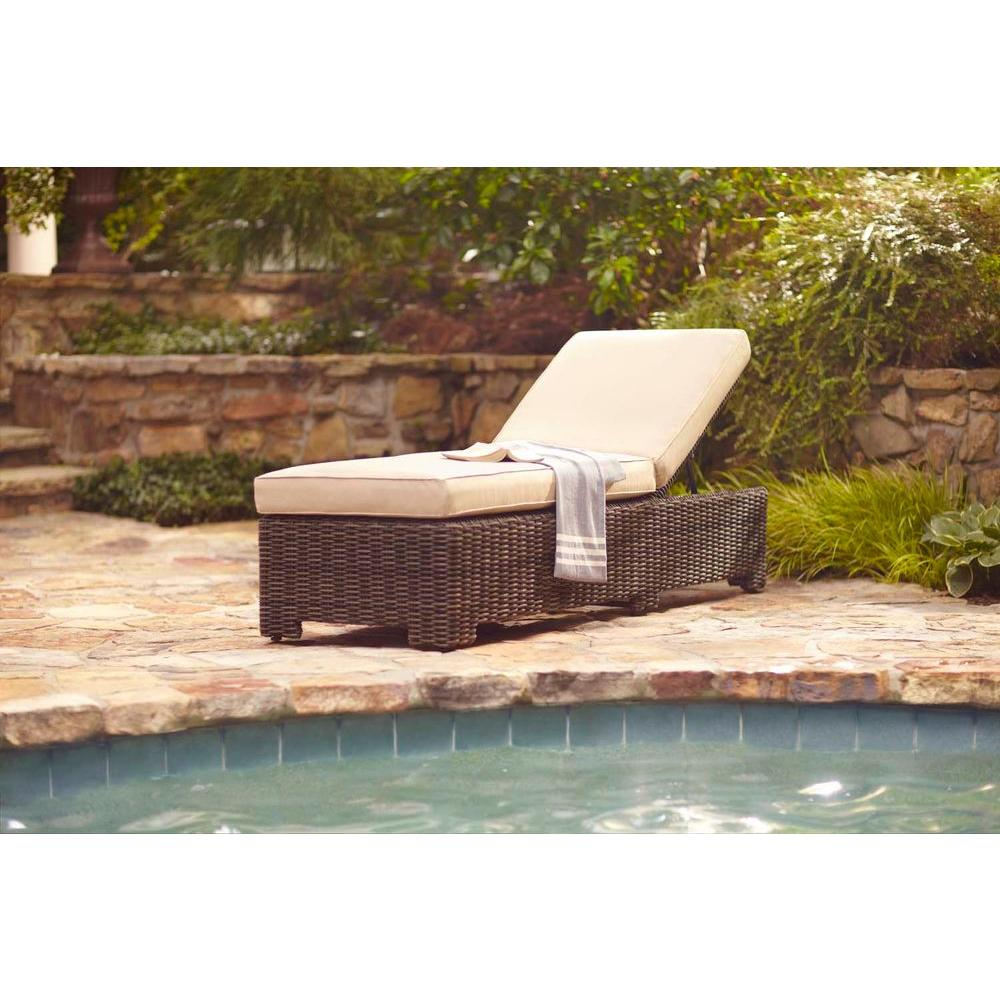 Brown Jordan Northshore Patio Chaise Lounge with Harvest Cushions -- STOCK
