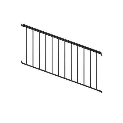 6 ft. Black Fine Textured Aluminum Stair Rail Kit (1-Qty)