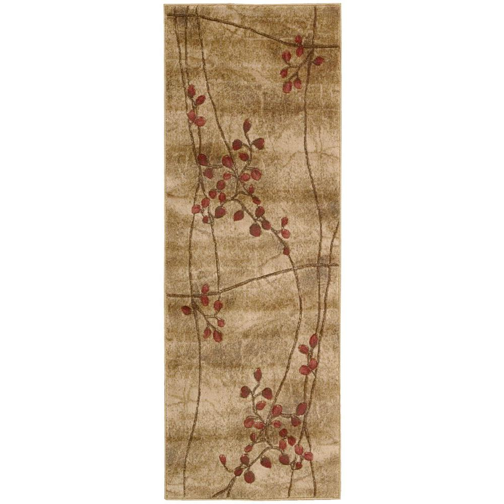 Nourison Somerset Latte 2 Ft. X 5 Ft. 9 In. Rug Runner