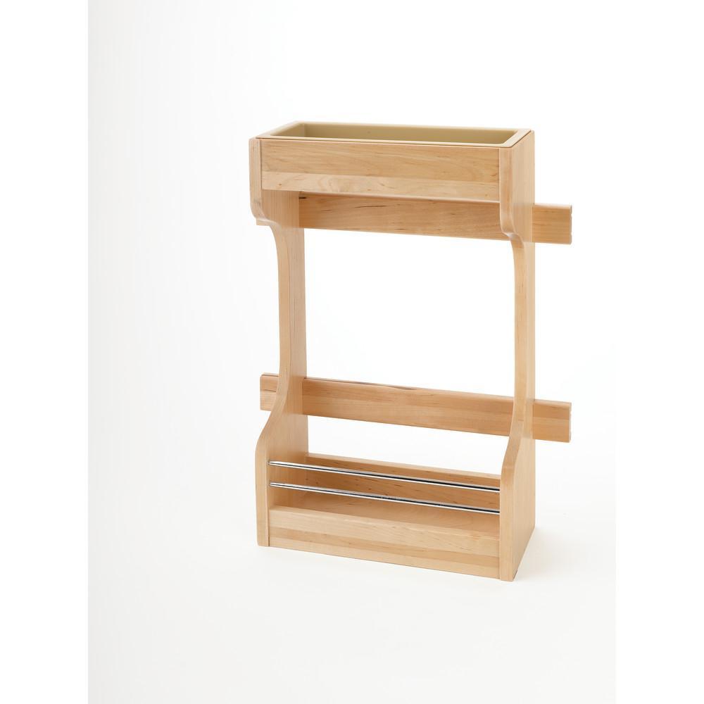 18.63 in. H x 13.5 in. W x 5 in. D Medium Cabinet Door Mount Wood 2-Shelf Storage Organizer
