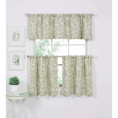 Serene 60 in. W x 15 in. L Cotton Single Window Curtain Valance in Sage