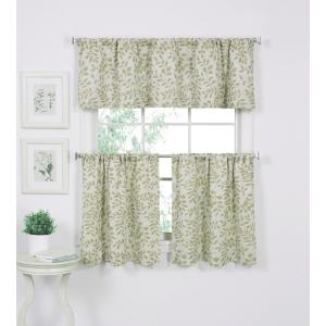 Serene 60 inch W x 15 inch L Cotton Single Window Curtain Valance in Sage by