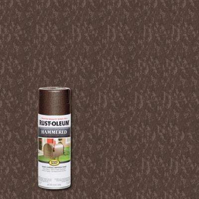 12 oz. Hammered Brown Protective Spray Paint (6-Pack)