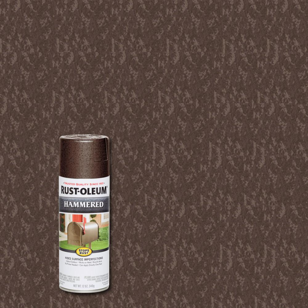 Rust-Oleum Stops Rust 12 oz. Hammered Brown Protective Spray Paint (6-Pack)