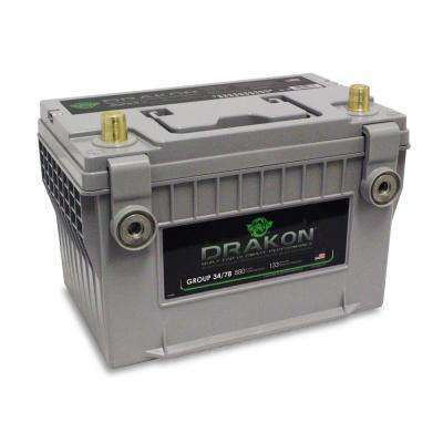 12-Volt High Performance Group 34/78 Pure Lead AGM Engine Start Battery