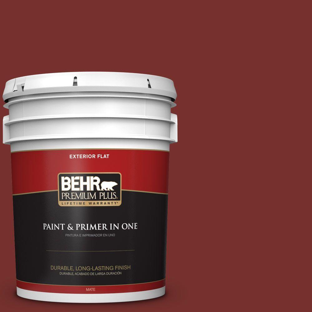 5-gal. #ECC-15-3 Cherry Bark Flat Exterior Paint