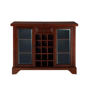 LaFayette Mahogany Bar with Sliding Top