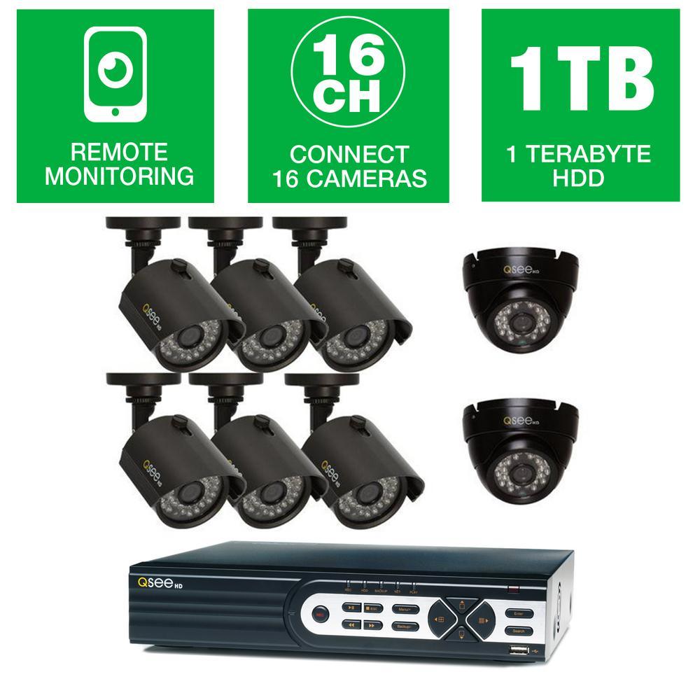 Q-See HeritageHD Series 16-Channel 720p 1TB Video Surveil...