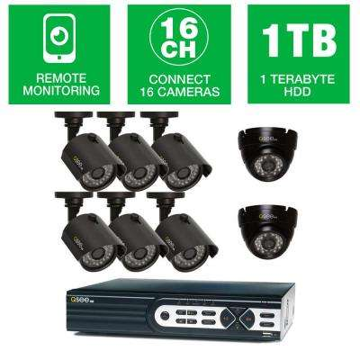 HeritageHD Series 16-Channel 720p 1TB Video Surveillance System with (6) 720p Bullet Cameras and (2) 720p Dome Cameras
