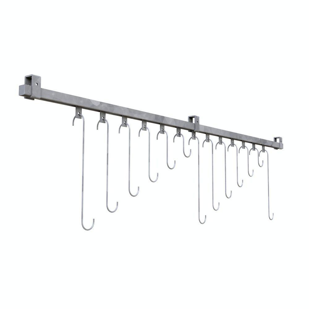 Ceiling Mount 13-Bike Galvanized Track Bike Rack