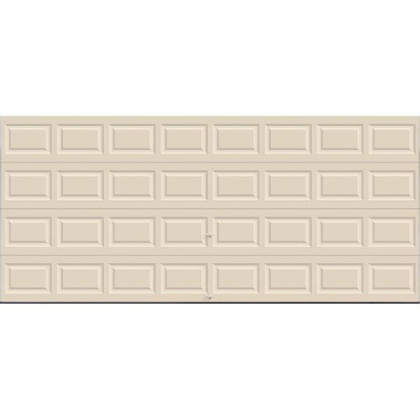 Classic Collection 16 ft. x 7 ft. 12.9 R-Value Intellicore Insulated Solid Almond Garage Door