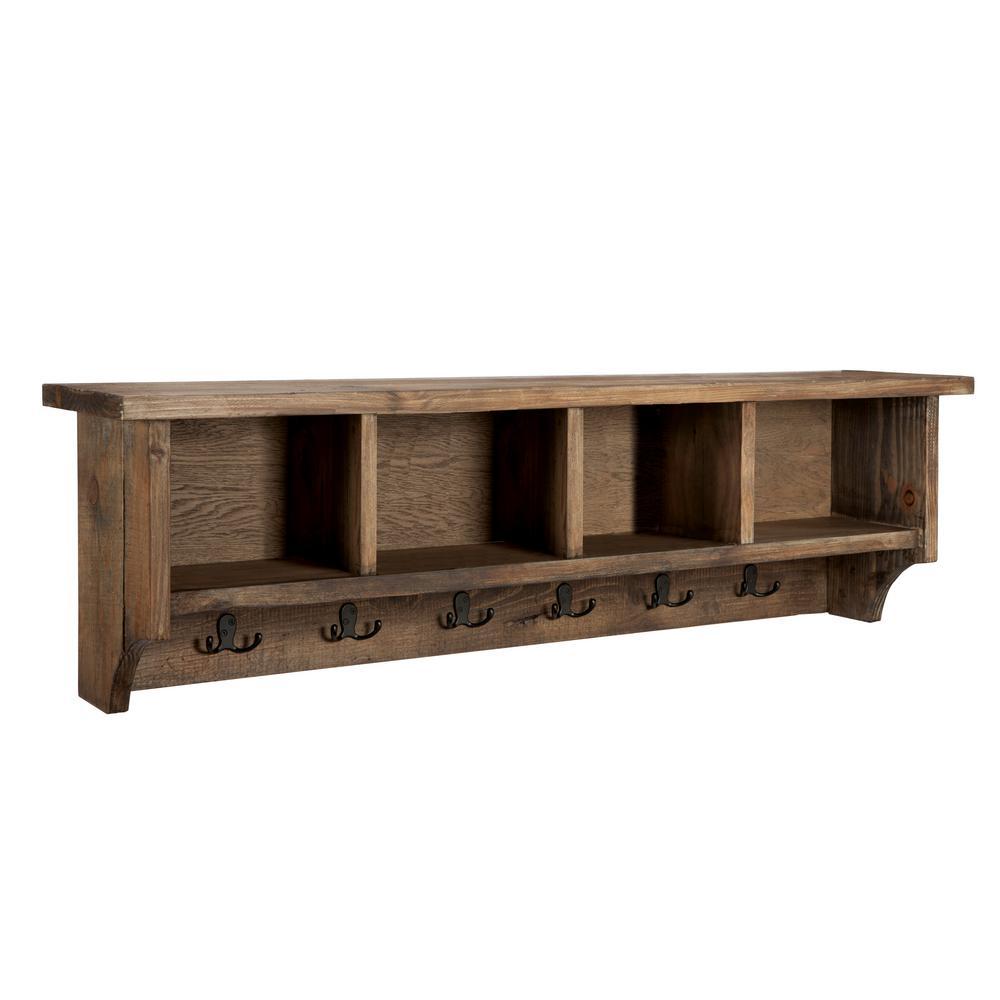 Internet #300072556. Alaterre Furniture Pomona Natural Rustic Storage Bench