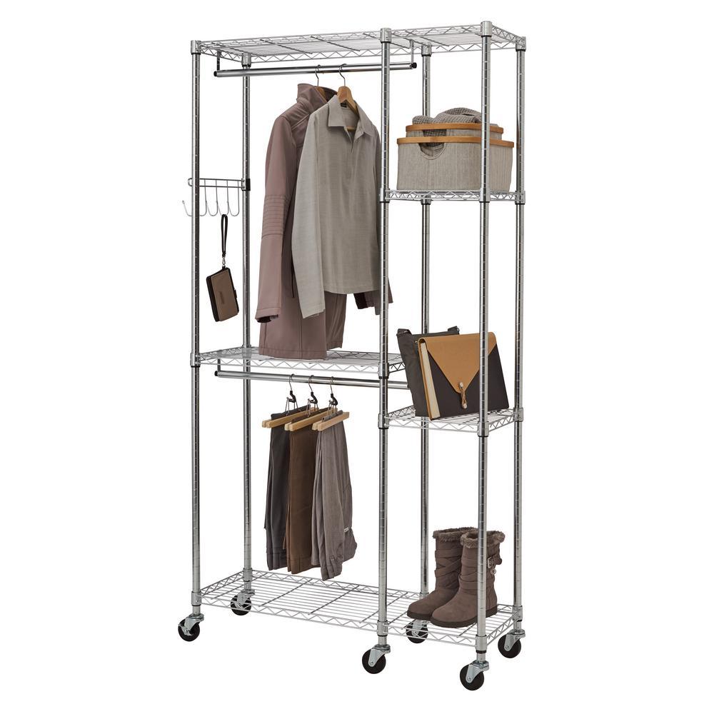 Deals on Trinity EcoStorage 5-Shelf Steel Closet System Organizer
