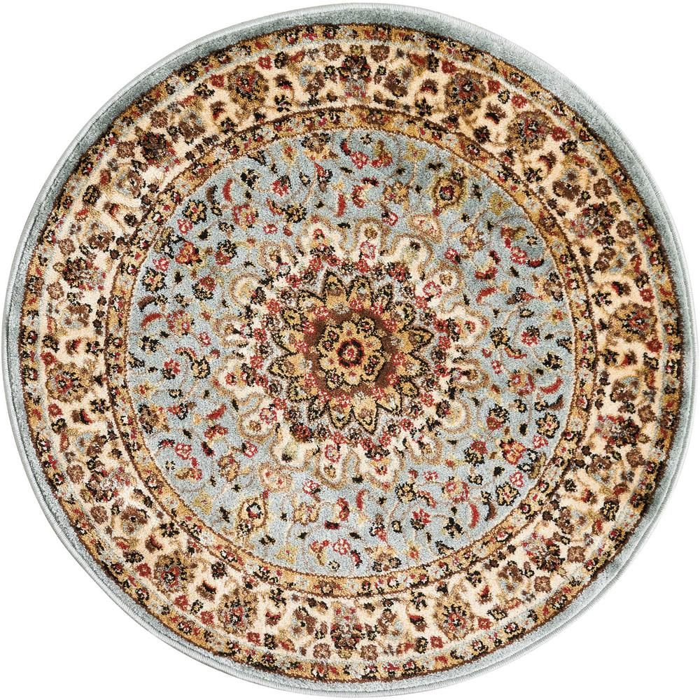 Delano Blue 3 ft. 4 in. Round Area Rug